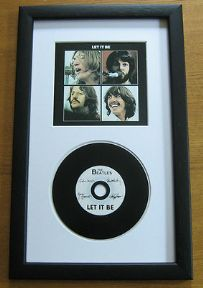 THE BEATLES - LET IT BE CD Disc presentation